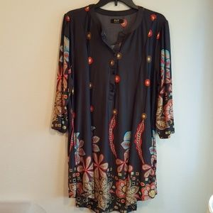 Tunic top or short dress 1XL Grey